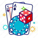 casino, dice, game, poker icon