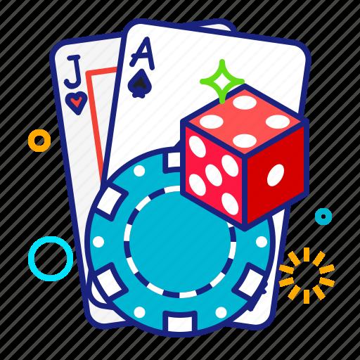 casino, dice, game, poker icon