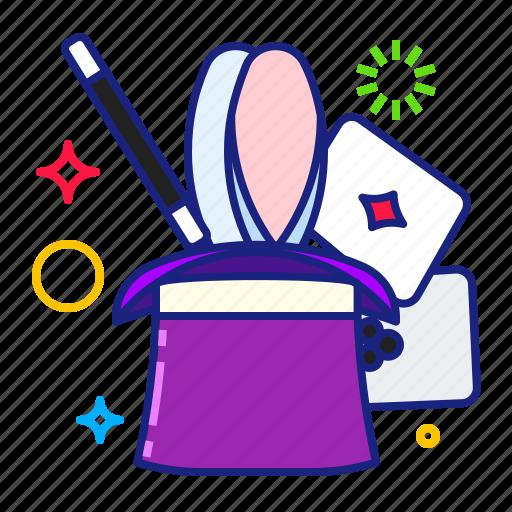magic, rabbit icon