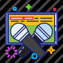 karaoke, microphone icon