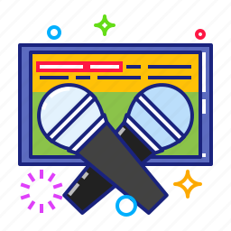karaoke, mic, microphone, speaker icon