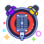 concert, microphone, musical, soffit icon