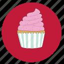 cake, cupcake, girly, goûter, gâteau, petit gâteau, snak icon