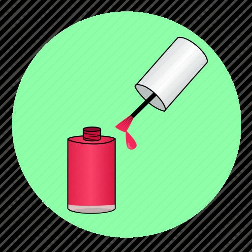 Femmal, femme, fille, girly, polish, vernis, vernis à ongles icon - Download on Iconfinder