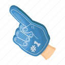 accessories, attribute, equipment, fan, finger, glove, sport icon