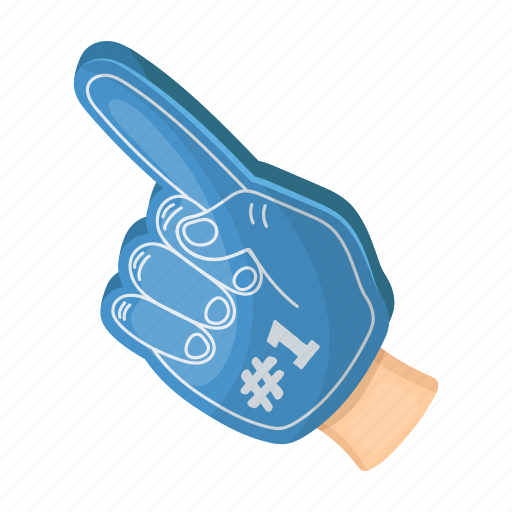 accessories, attribute, equipment, fan, finger, glove, sport icon