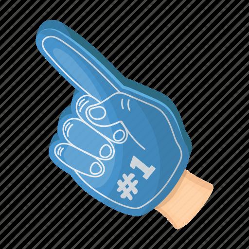 Accessories, attribute, equipment, fan, finger, glove, sport icon - Download on Iconfinder