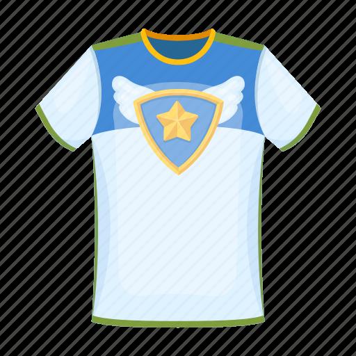 accessories, attribute, equipment, fan, sport, t-shirt, team icon