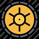 bank, cash, money, storage, vault icon