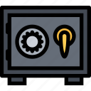 cash, money, money storage, safe, safe deposit box icon