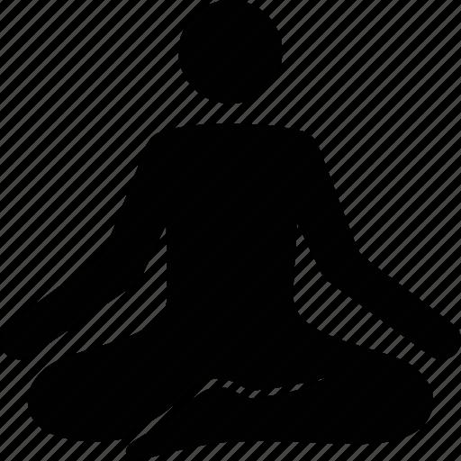 lotus, meditate, meditating, meditation, position, yoga, zen icon