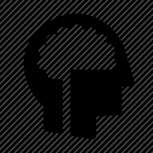 brain, cancer, clever, head, intelligent, maths, smart icon