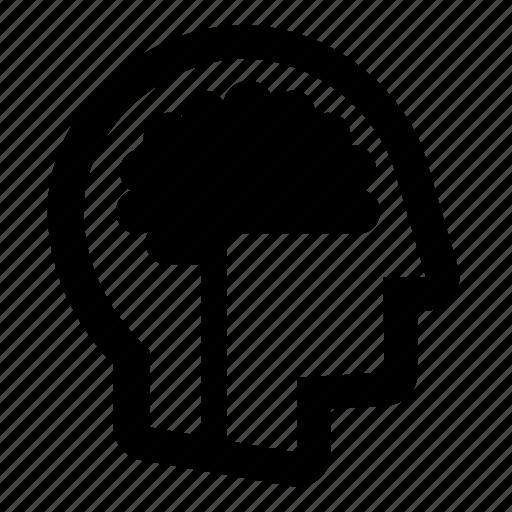 brain, businessman, head, man, people, profile, think icon