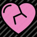 broken, broken heart, heart, hurt, sad icon