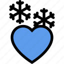 christmas, cold, heart, love, valentine, winter, xmas icon