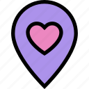 date, location, love location, map, navigation, pin, wedding location icon