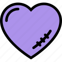 broken heart, heart, love, scar, valentine icon