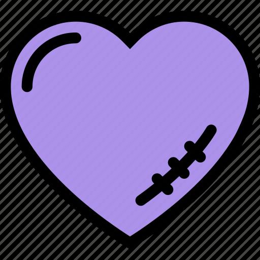 broken heart, heart, love, scar, valentine icon