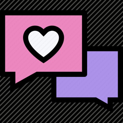 chat, communication, conversation, interaction, love, talk icon