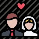 couple, heart, love, marriage, newlyweds, romantic, wedding