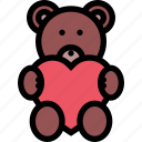 bear, birthday, cute, gift, surprise, sweet, teddy icon