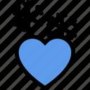 cold, heart, love, snow, winter icon