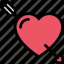 arrow, heart, love, pointer, valentine icon