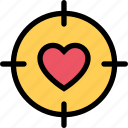 heart, love, romance, sight, valentine icon
