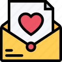 heart, letter, love, mail, romance icon