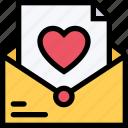 heart, letter, love, mail, romance