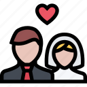 love, marriage, newlyweds, romance, valentine, wedding icon