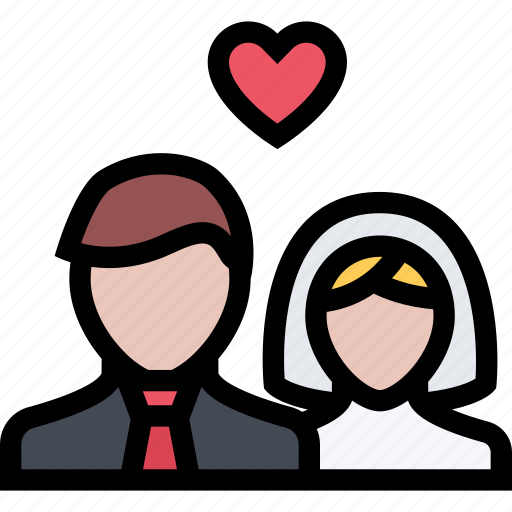 Love, marriage, newlyweds, romance, valentine, wedding icon - Download on Iconfinder
