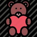 bear, gift, heart, teddy, valentine icon