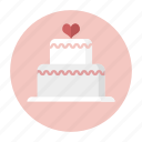 cake, dessert, love, party, sweet, valentine, wedding cake icon