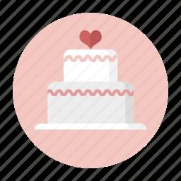 cake, dessert, love, party, sweet, valentine, wedding cake icon