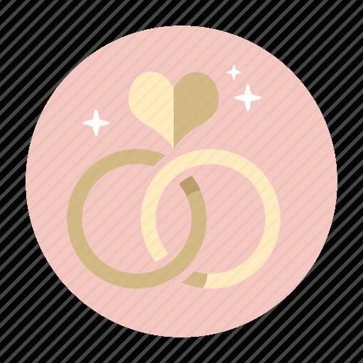 couple, engagement, present, rings, romantic, valentine, wedding icon