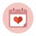 calendar, date, love, schedule, valentine, valentine's day, wedding day icon