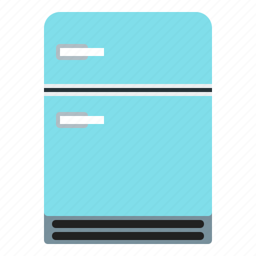blue, fridge, meal, storage icon
