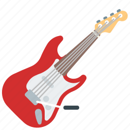 guitar, music, red, rock-n-roll icon