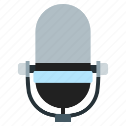 media, microphone, record, speaker icon