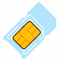 card, chip, multi, sim icon