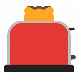 kitchen, red, toast, toaster icon