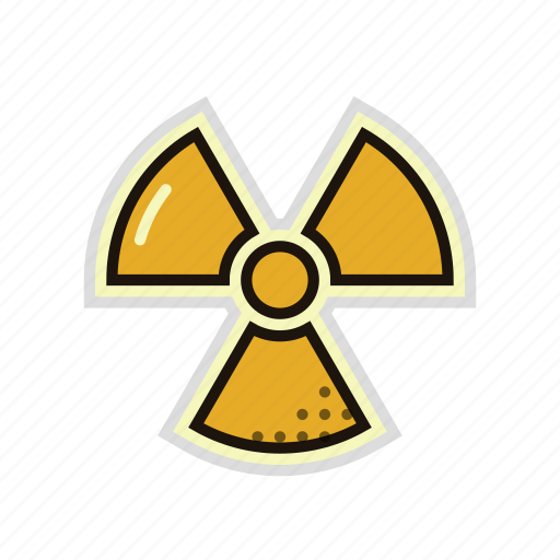 Danger Hazard Nuclear Radiation Radioactive Science Icon