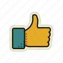 finger, friend, like, success, thumb, up icon