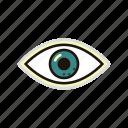 eye, eyesight, search, sight, view, watch icon