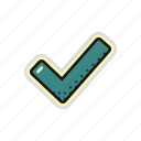 approved, check, checklist, checkmark, correct, mark icon