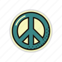 hippie, hippy, pacifist, peace, peaceful, world icon