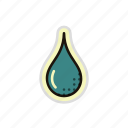 drip, drop, droplet, liquid, oil, water icon