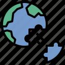 conflict, deglobalization, jigsaw, secede, world