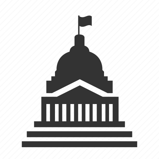 bank, building, buildings, capital city, congress, washington, white house icon